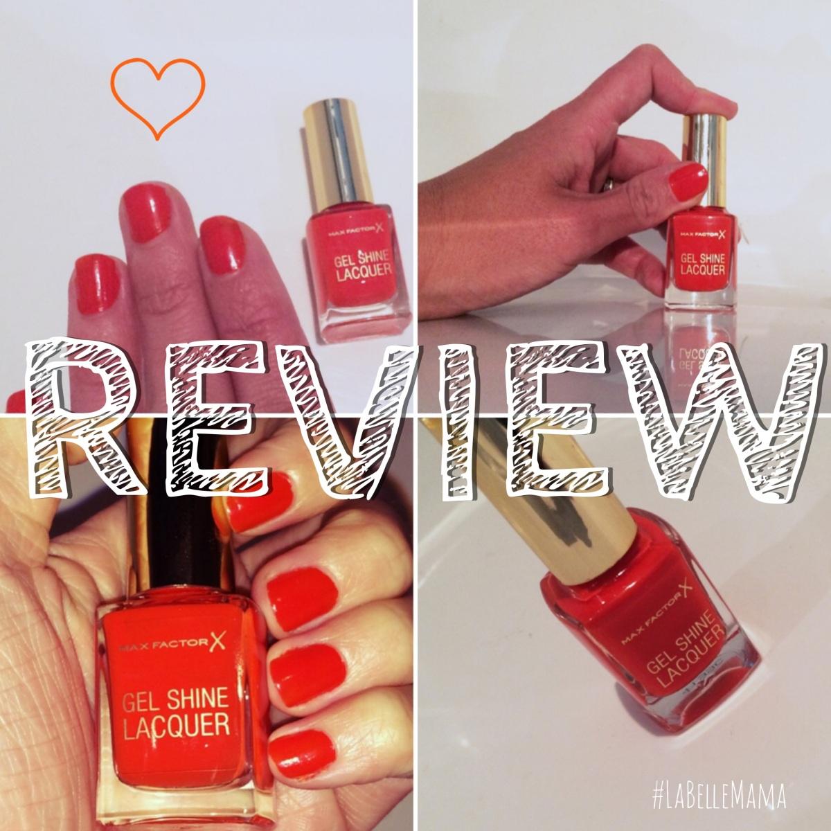 Lacquer And Nail Polish: Review: Max Factor Gel Shine Lacquer Nail Polish